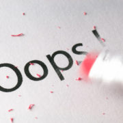 Erasing Oops !