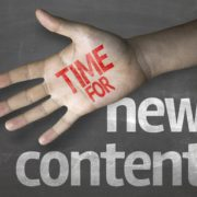 Educational composition with the message Time for New Content