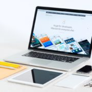 Apple Devices On A Desk Presenting Ios 8