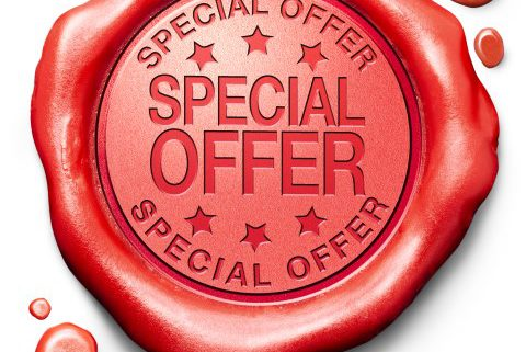 special offer hot sales promotion bargain webshop icon or online