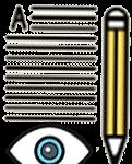 pencil notes eye